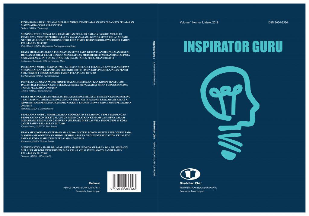 contoh jurnal penelitian tindakan kelas